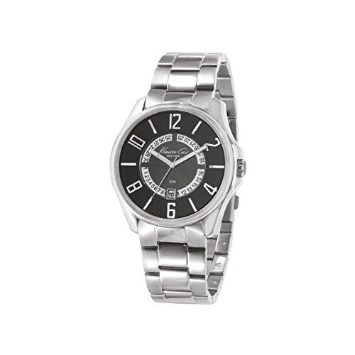 Kenneth Cole Gents Calendar 50M Bracelet Watch KC3860 + Alarm Clock Gift Set