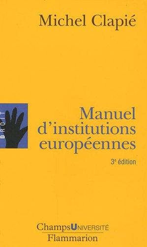 Manuel d'institutions européennes