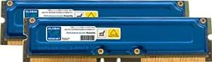 1Go (2 x 512Mo) RAMBUS PC800 184-PIN RDRAM RIMM MÉMOIRE RAM KIT POUR ORDINATEURS DE BUREAU/CARTES MERES