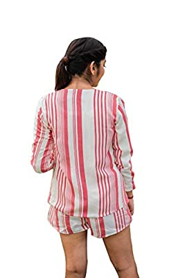 eloe red Stripes Suit