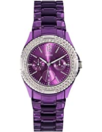 Guess Damen-Armbanduhr Analog Quarz Edelstahl W0062L2