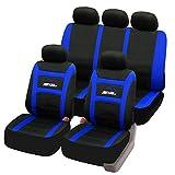 SITU universal Sitzbezüge für Auto Schonbezug Komplettset schwarz/blau SCSC0095