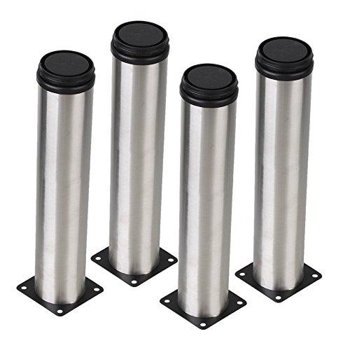 BQLZR-Argent-50-x-250-mm-Cabinet-Pieds-en-metal-reglable-en-acier-inoxydable