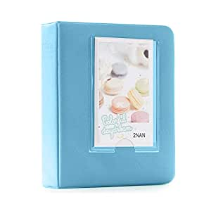 Shopizone Mini 64 Pockets Album for Instax Mini 8/9 / 9+ Accessory Travel Diary to Store Memories - Blue
