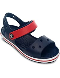 crocs Unisex's Crocband Navy/Red Sandals-C13 (12856)