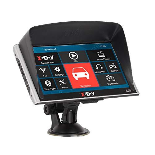 Xgody 826 Bluetooth Truck sistema di navigazione GPS per auto touchscreen capacitivo 17,8 cm 8 GB ROM navigatore satellitare con mappe a vita Spoken Turn-by-Turn direzioni