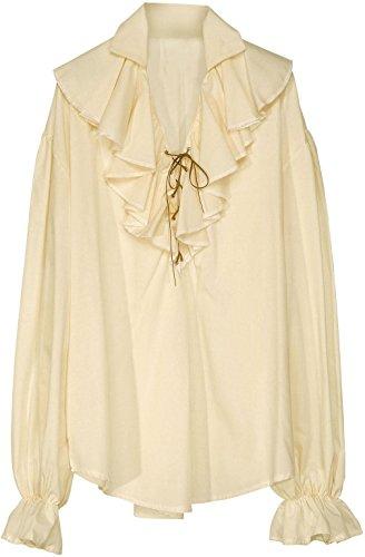Widmann 4180A - Piraten / Renaissaince Bluse - beige - Gr.M (Kostüm-ideen Piraten Lady)