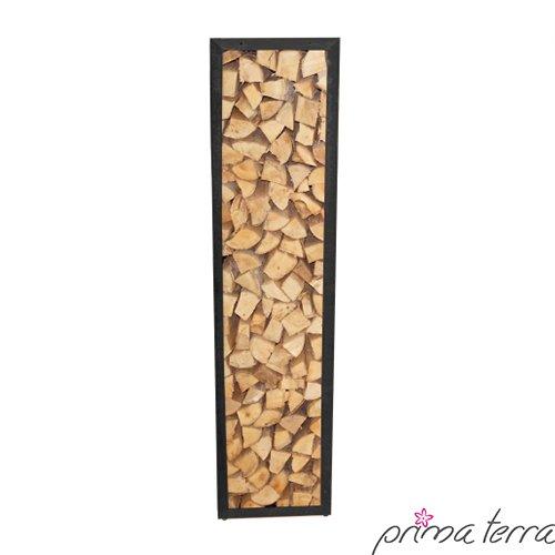 rayon pour bois de chauffage noir prima terra longueur 158cm largeur 38cm profondeur 35cm