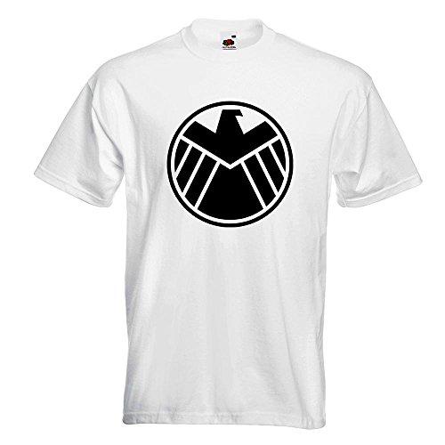KIWISTAR - Agents of S.H.I.E.L.D. T-Shirt in 15 verschiedenen Farben - Herren Funshirt bedruckt Design Sprüche Spruch Motive Oberteil Baumwolle Print Größe S M L XL XXL Weiß