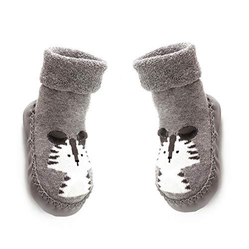 Mukluk Slipper Stiefel (Kinder Kleinkinder Newborns Anti-Rutsch-Socken Gummisohle Socken Stiefel Cartoon Slipper Socken Für 18-24 Monate Baby)