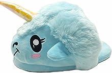Kenmont Zapatillas de estar por casa Zapatos peluche de felpa Unicornio para adulto