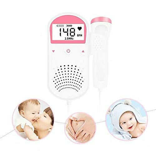 GoodFaith Doppler Baby Herzfrequenzmesser FHR LCD Probe Schwangerschaft Fetus Pocket Fetal Baby Herzfrequenzmesser für Schwangere Frau -