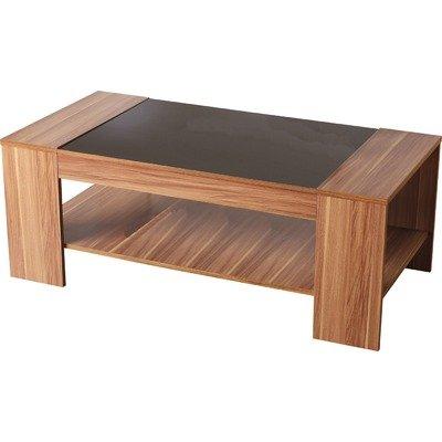 Shearwater Coffee Table in Walnut Veneer and Black Gloss