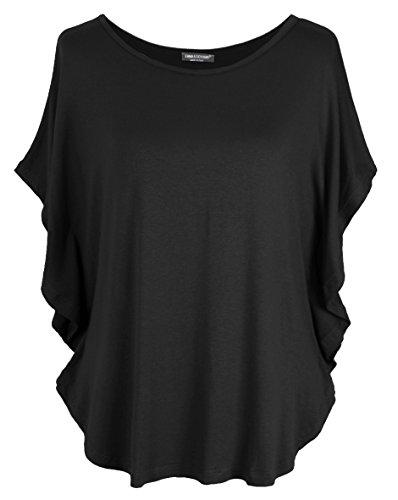Emma & Giovanni T-Shirt/Oberteile Kurzarm - Damen (Schwarz, M/L)