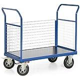 Plattformwagen Serie F 500 mit 3 Wänden aus Gitter, Traglast bis 500 kg, Ladeflächen Maß:1000x700