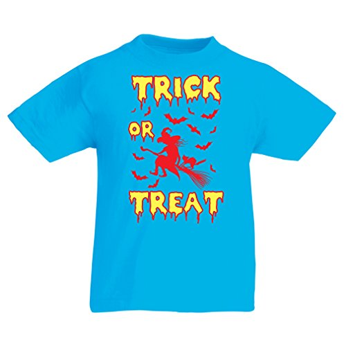 Kinder T-Shirt Trick or Treat (14-15 years Hellblau Mehrfarben)