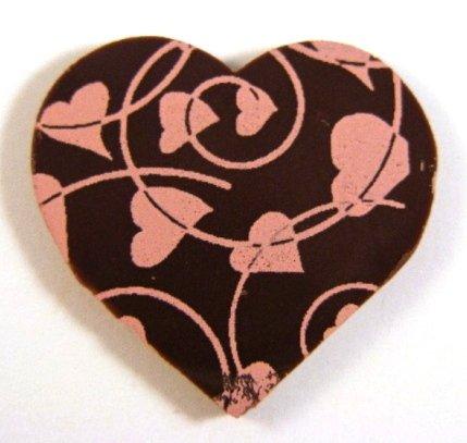 Chocolate Valentine Hearts/Pink Line - 20