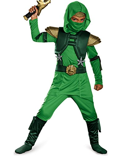 Disguise Green Master Ninja Deluxe Boys Costume M (7-8)