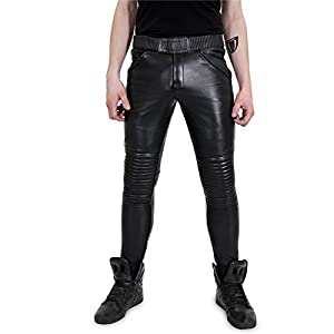 Bockle® Baby Biker Lederhose, Schwarz