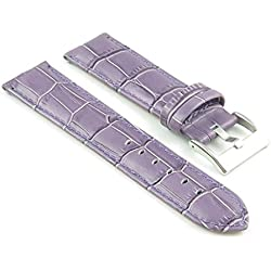 StrapsCo Purple Padded Croc Leather watch Strap size 26mm