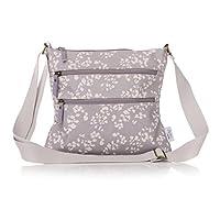Shruti   Oilcloth Sling Bag   Grey & Cream   29x26cm