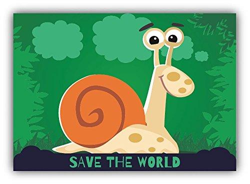 save-the-world-snail-cartoon-animal-greenpeace-slogan-car-bumper-sticker-decal-12-x-10-cm