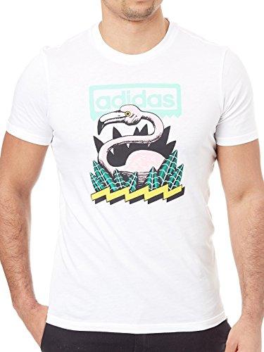 adidas Originals CF5840 T-Shirt Man White M (Autor T-shirt Mens)