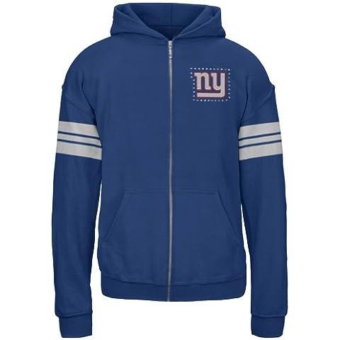 New York Giants -  Felpa con cappuccio  - ragazza Blu blu 8-10