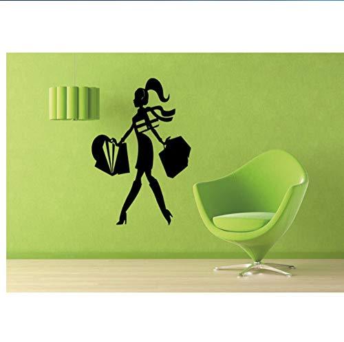Einkaufszentrum Mode Stil Trends Kostüm Kleidung Wandaufkleber Aufkleber Home Decor Art Wandbild Tapete Polyvinyl 56X89Cm (Arten Von Batman Kostüm)
