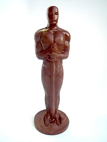 Die Oscar Süßigkeiten Geschenk Replica solide hochwertige dunkle Schokolade 15 cm hoch 80 Gramm DA SCHOKOLADE