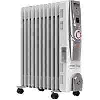 Vax ACH3V101 2500W Power Heat Oil-Filled Radiator (White/Silver)