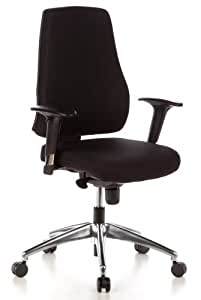hjh office 608000 profi b rostuhl pro tec 200 stoff schwarz drehstuhl mit r ckenlehne und. Black Bedroom Furniture Sets. Home Design Ideas