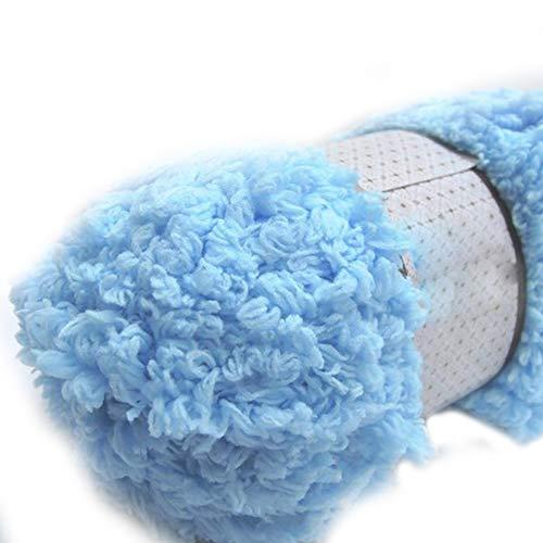 Lana de tejer suave y cálida para chenilla, para toallas, abrigos, suéteres, herramientas de bricolaje, color caqui, geshiglobal Light Sky Blue