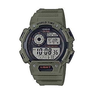 Casio Reloj Digital para Hombre de Cuarzo con Correa en Resina AE-1400WH-3AVEF