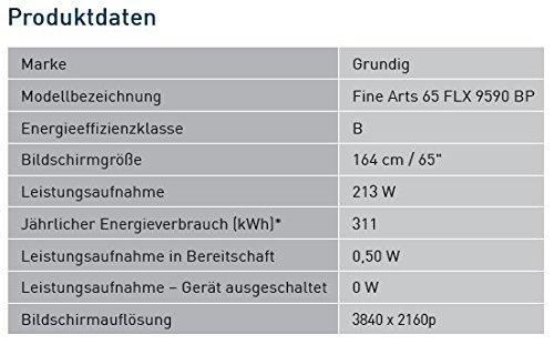 Fernseher – Grundig – Fine Arts 65 FLX 9590 BP – 65 Zoll - 3