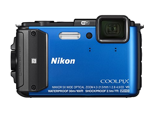 Nikon COOLPIX AW130 Waterproof Digital Camera with Built-In Wi-Fi (Blue)