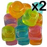 Wiederverwendbare Party-/Picknick-Eiswürfel–einfach waschen, trocknen und einfrieren, 2er-Packung