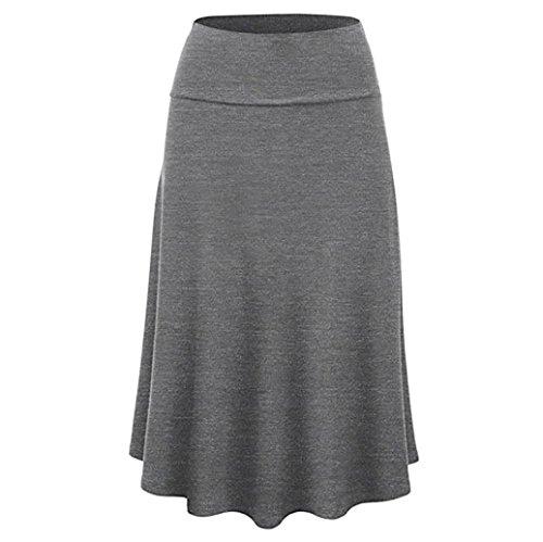❤️ Falda Plisada Mujer,Falda Midi de Cintura Alta con Dobladillo sólido de Talla Grande y Uniforme Sexy Absolute