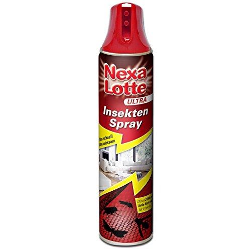 Nexa-Lotte Ultra Insektenspray gegen Fliegen Mücken Wespen Ameisen Motten und andere Insekten, 400ml