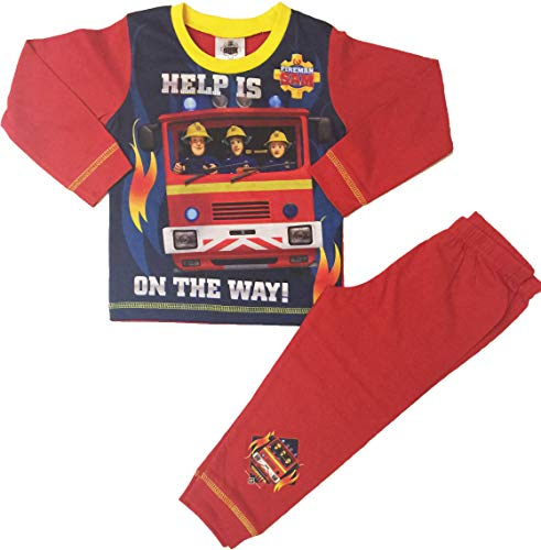 Fireman Sam Pyjamas Boys Pjs Sleepwear Ages 18 Months to 5 Years