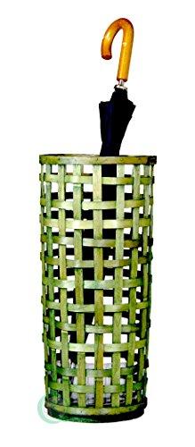Vintiquewise woodchip weaved portaombrelli, legno, verde chiaro