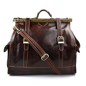 Leder Artztasche Ledertasche Damen Leder Doktor Tasche Artzt Reisetache Doctor Bag Leder Tasche Herren Leder Handtasche Leder Schultertasche braun