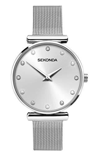 Sekonda Watches Orologio Analogico Quarzo Donna con Cinturino in Acciaio Inox 2491.27