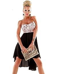 Kleid vorne kurz hinten lang pailletten