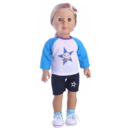 Puppenkleider-Set für 45,7cm American Girl Boy Puppe Unsere Generation mingfa niedliches Sommer-Sportswear Outfits Puppe Zubehör