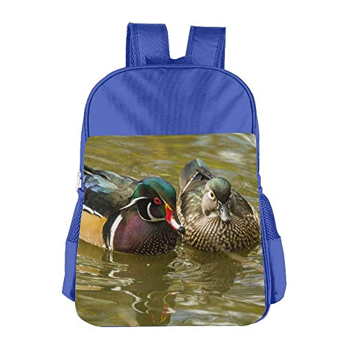 Male and Female Wood Ducks Children School Backpack Carry Bag for Youth Boy Girl