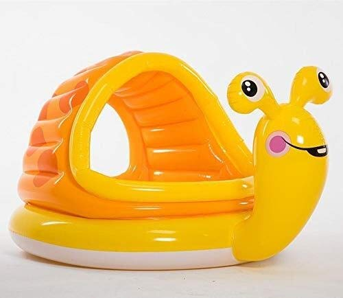 TISS Piscine Gonflable for bébé avec Anneau de Natation for bébé, siège de Bateau, Yacht avec Parasol for Les Enfants de 6 à 36 Mois