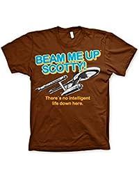 Officially Licensed Merchandise Star Trek - Beam Me Up Scotty T-Shirt (Black)