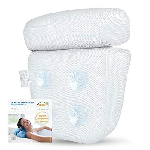 Cuscino bagno, cuscino rilassante vasca da bagno o spa famiglia, confortevole e veloce asciugatura mousse cuscino - bianco