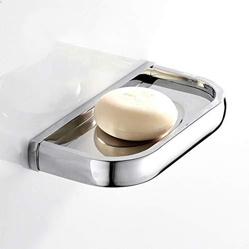 BEIEU - Heller Silberüberzug Chrom Außenhandel Messing materiell Seifenschale Badezimmer Anhänger europäischen Bad Seifenschale